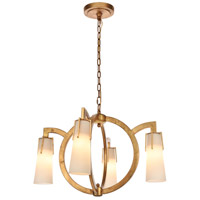 Elegant Lighting 1542D28GI Harlow Nights 4 Light 28 inch Golden Iron Chandelier Ceiling Light Urban Classic