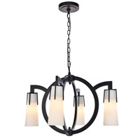 Elegant Lighting 1542D28VB Harlow Nights 4 Light 28 inch Vintage Bronze Chandelier Ceiling Light Urban Classic