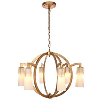Elegant Lighting 1542D36GI Harlow Nights 6 Light 36 inch Golden Iron Chandelier Ceiling Light Urban Classic