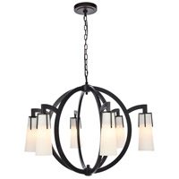 Elegant Lighting 1542D36VB Harlow Nights 6 Light 36 inch Vintage Bronze Chandelier Ceiling Light Urban Classic