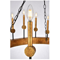 Elegant Lighting 1543D35VBGI Neva 18 Light 35 inch Vintage Bronze and Golden Iron Chandelier Ceiling Light, Urban Classic alternative photo thumbnail