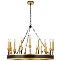 Elegant Lighting 1543G40VBGI Neva 20 Light 40 inch Vintage Bronze and Golden Iron Chandelier Ceiling Light Urban Classic