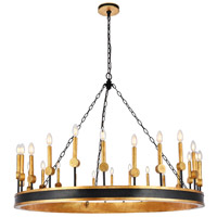 Elegant Lighting 1543G50VBGI Neva 24 Light 50 inch Vintage Bronze and Golden Iron Chandelier Ceiling Light Urban Classic