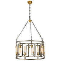 Elegant Lighting 1544D32VN Fontana 16 Light 32 inch Vintage Nickel and Electroplated Brass Chandelier Ceiling Light Urban Classic