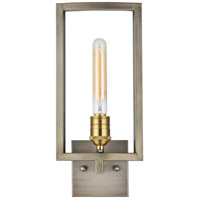 Elegant Lighting 1544W7VN Fontana 1 Light 7 inch Vintage Nickel and Electroplated Brass Wall Sconce Wall Light, Urban Classic