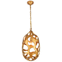 Elegant Lighting 1545D12GG Bombay 1 Light 12 inch Gilded Gold Chandelier Ceiling Light Urban Classic