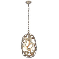 Elegant Lighting 1545D12GS Bombay 1 Light 12 inch Gilded Silver Chandelier Ceiling Light, Urban Classic