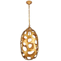 Elegant Lighting 1545D14GG Bombay 1 Light 14 inch Gilded Gold Chandelier Ceiling Light, Urban Classic