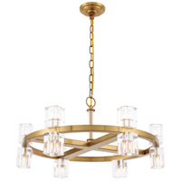 Elegant Lighting 1550D26BB Chateau 12 Light 26 inch Burnished Brass Pendant Ceiling Light, Urban Classic