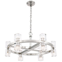 Elegant Lighting 1550D26PN Chateau 12 Light 26 inch Polished Nickel Pendant Ceiling Light, Urban Classic