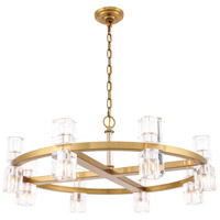 Elegant Lighting 1550D32BB Chateau 16 Light 32 inch Burnished Brass Pendant Ceiling Light Urban Classic