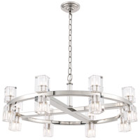 Elegant Lighting 1550D32PN Chateau 16 Light 32 inch Polished Nickel Pendant Ceiling Light, Urban Classic