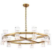 Elegant Lighting 1550D36BB Chateau 20 Light 36 inch Burnished Brass Pendant Ceiling Light Urban Classic