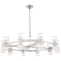 Elegant Lighting 1550D36PN Chateau 20 Light 36 inch Polished Nickel Pendant Ceiling Light, Urban Classic