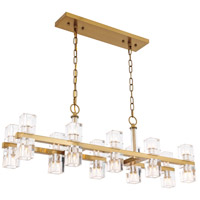 Elegant Lighting 1550D40BB Chateau 20 Light 9 inch Burnished Brass Pendant Ceiling Light, Urban Classic