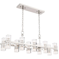 Elegant Lighting 1550D40PN Chateau 20 Light 9 inch Polished Nickel Pendant Ceiling Light, Urban Classic