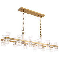 Elegant Lighting 1550D50BB Chateau 24 Light 9 inch Burnished Brass Pendant Ceiling Light, Urban Classic