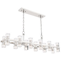 Elegant Lighting 1550D50PN Chateau 24 Light 9 inch Polished Nickel Pendant Ceiling Light, Urban Classic