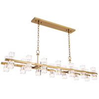 Elegant Lighting 1550D60BB Chateau 28 Light 9 inch Burnished Brass Pendant Ceiling Light, Urban Classic