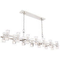 Elegant Lighting 1550D60PN Chateau 28 Light 9 inch Polished Nickel Pendant Ceiling Light, Urban Classic