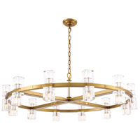 Elegant Lighting 1550G42BB Chateau 20 Light 42 inch Burnished Brass Pendant Ceiling Light, Urban Classic