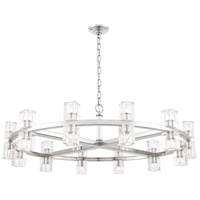 Elegant Lighting 1550G42PN Chateau 20 Light 42 inch Polished Nickel Pendant Ceiling Light, Urban Classic