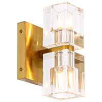 Elegant Lighting 1550W5BB Chateau 2 Light 5 inch Burnished Brass Wall Sconce Wall Light Urban Classic