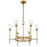 Elegant Lighting 1552D26BB Soiree 6 Light 26 inch Burnished Brass Pendant Ceiling Light Urban Classic