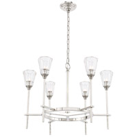 Elegant Lighting 1552D26PN Soiree 6 Light 26 inch Polished Nickel Pendant Ceiling Light Urban Classic