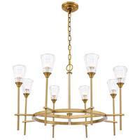 Elegant Lighting 1552D32BB Soiree 8 Light 32 inch Burnished Brass Pendant Ceiling Light Urban Classic