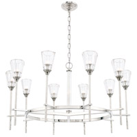 Elegant Lighting 1552D36PN Soiree 10 Light 36 inch Polished Nickel Pendant Ceiling Light Urban Classic