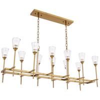 Elegant Lighting 1552D50BB Soiree 12 Light 18 inch Burnished Brass Pendant Ceiling Light Urban Classic