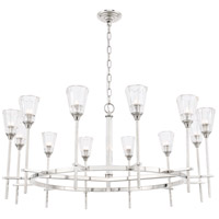Elegant Lighting 1552G42PN Soiree 12 Light 42 inch Polished Nickel Pendant Ceiling Light Urban Classic