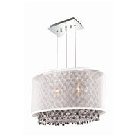 Moda 2 Light 13 inch Chrome Chandelier Ceiling Light in Clear, Swarovski Elements