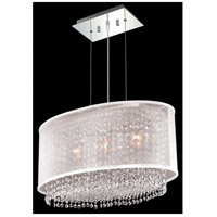 Moda 3 Light 13 inch Chrome Chandelier Ceiling Light in Clear, Royal Cut