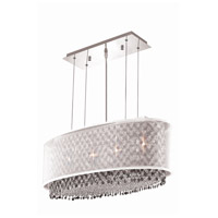 Moda 4 Light 13 inch Chrome Chandelier Ceiling Light in Clear, Royal Cut