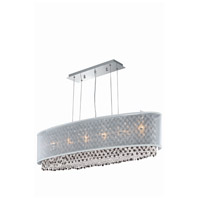 Moda 6 Light 13 inch Chrome Chandelier Ceiling Light in Clear, Swarovski Elements