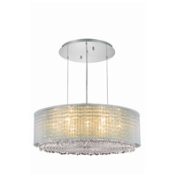 Moda 9 Light 30 inch Chrome Chandelier Ceiling Light in Clear, Swarovski Elements