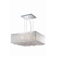 Moda 6 Light 26 inch Chrome Chandelier Ceiling Light in Clear, Royal Cut