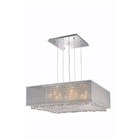 Moda 6 Light 30 inch Chrome Chandelier Ceiling Light in Clear, Swarovski Elements