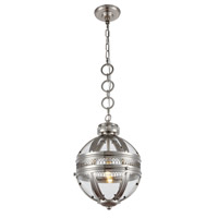 Elegant Lighting 1700D12SN Casanova 1 Light 12 inch Satin Nickel Pendant Ceiling Light Urban Classic