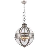 Casanova 3 Light 18 inch Satin Nickel Pendant Ceiling Light, Urban Classic