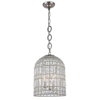 Elegant Lighting 1701D12PN Capistrano 3 Light 12 inch Polished Nickel Pendant Ceiling Light Urban Classic
