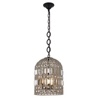 Elegant Lighting 1701D12RDB Capistrano 3 Light 12 inch Rustic Dark Bronze Pendant Ceiling Light Urban Classic
