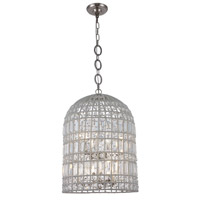 Elegant Lighting 1701D16PN Capistrano 6 Light 16 inch Polished Nickel Pendant Ceiling Light Urban Classic