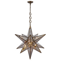 Elegant Lighting 1703D26DAB Orion 1 Light 26 inch Dark Antique Brass Chandelier Ceiling Light Urban Classic