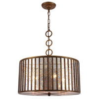 Elegant Lighting 1704D20DAB Frisco 4 Light 20 inch Dark Antique Brass Chandelier Ceiling Light Urban Classic
