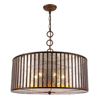Frisco 6 Light 26 inch Dark Antique Brass Chandelier Ceiling Light, Urban Classic