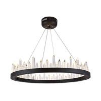 Elegant Lighting 1705D26SDG Malta LED 26 inch Satin Dark Grey Chandelier Ceiling Light Urban Classic