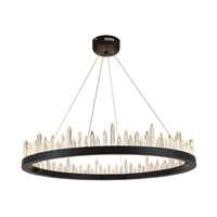 Malta LED 32 inch Satin Dark Grey Chandelier Ceiling Light, Urban Classic